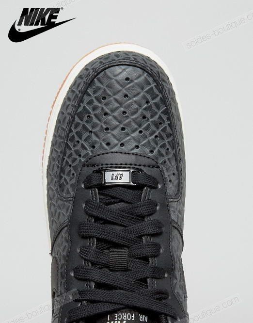 Basket Nike ✔ ✔ Nike Air Force 1 Premium Baskets Noir - Basket Nike ✔ ✔ Nike Air Force 1 Premium Baskets Noir-01-3