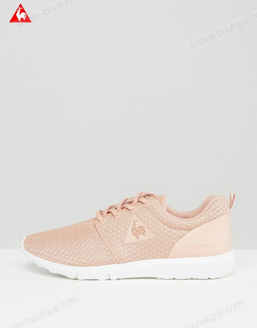 Le Coq Sportif Dynacomf Baskets en maille Rose Dessin simple - Le Coq Sportif Dynacomf Baskets en maille Rose Dessin simple-01-1