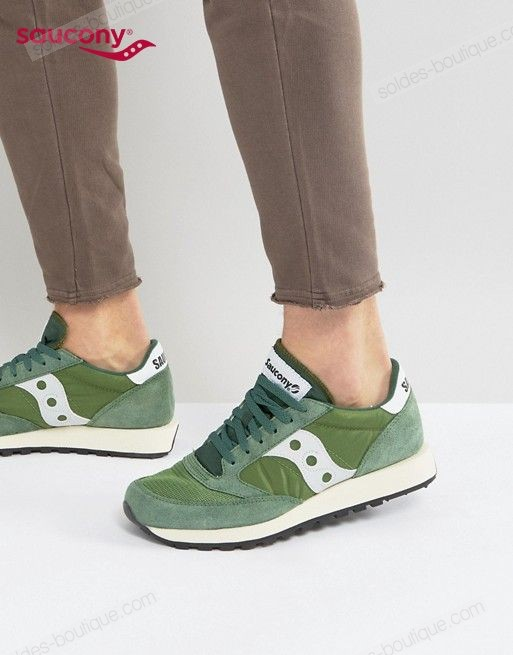 Saucony - Jazz Original Vintage Baskets ** Vert Discount - Saucony Jazz Original Vintage Baskets ** Vert Discount-01-0
