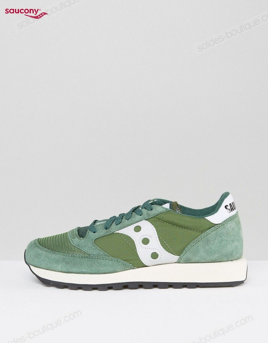 Saucony - Jazz Original Vintage Baskets ** Vert Discount - Saucony Jazz Original Vintage Baskets ** Vert Discount-01-1