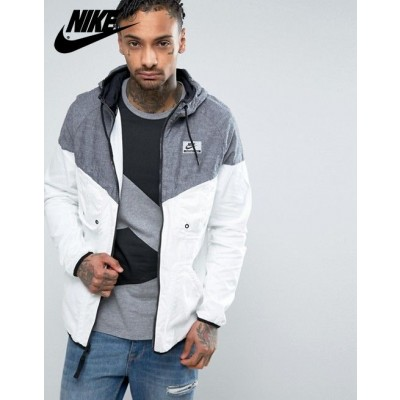 Nike International Veste coupevent Blanc & {Nike France}-20