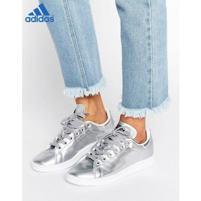 Adidas Originals Stan Smith Argent métallisé ✔ (Adidas Boutique)-20