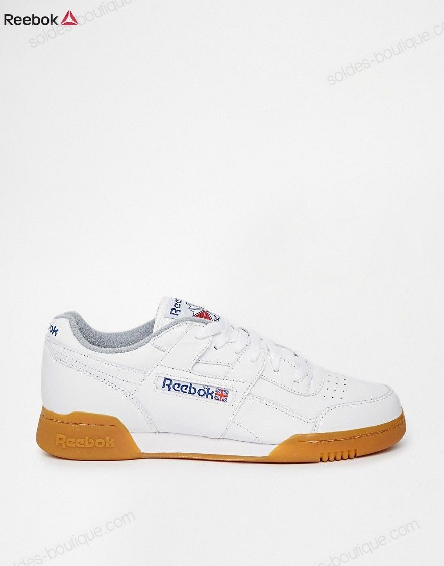 Reebok Workout Plus M45031 - Baskets - Blanc {Promo Basket Reebok} - Reebok Workout Plus M45031 Baskets Blanc {Promo Basket Reebok}-01-2