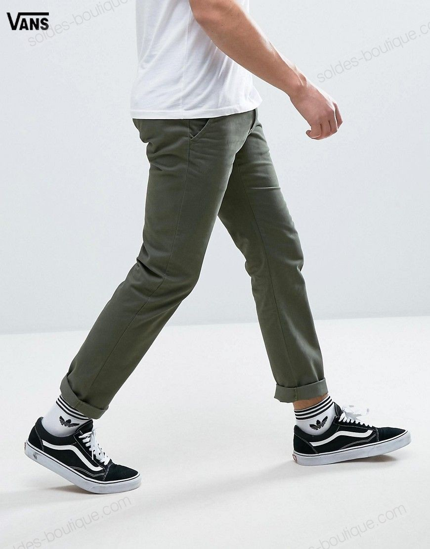 (Boutique En Ligne Vans) Vans Authentic Pantalon chino Vert VA3144KCZ - (Boutique En Ligne Vans) Vans Authentic Pantalon chino Vert VA3144KCZ-01-4